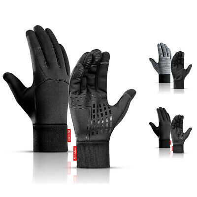 Mens Winter Gloves Waterproof Touch Screen Running Cycling Warm Windproof Gloves