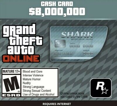 Grand Theft Auto Online (PC): Megalodon Shark Cash Card $8,000,000 GTA Money