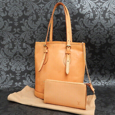 Rise-on LOUIS VUITTON Nomade Bucket All Vachetta Leather Brown Shoulder Bag #3