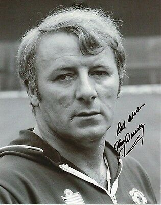TOMMY DOCHERTY Signed 10x8 Photo 1977 FA Cup MANCHESTER UTD COA