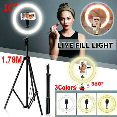 Studio LED Ring Light Dimmable Lamp YouTube Video Make-up Selfie Camera Phone BO
