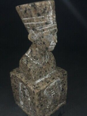 Rare Ancient Egyptian Queen Nefertari  Granite Bust (C.1370 .C - 1330 BC )