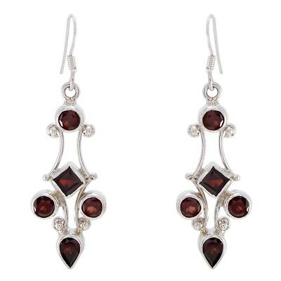 attractive Garnet 925 Sterling Silver Red Natural jaipur CA gift