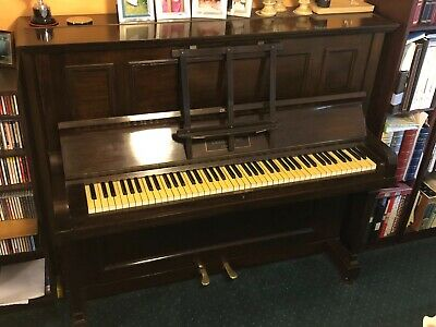 Challen upright piano, brown, 85 keys, used good condition