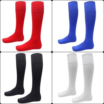 Unisex Plain Knee High Football Socks, Rugby Hockey Soccer Sports Training Socks