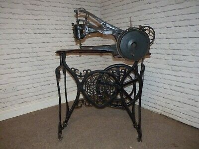 "Antique Industrial Bradbury & Co Sewing Machine""Boot Makers Friend"" Museum Piece"