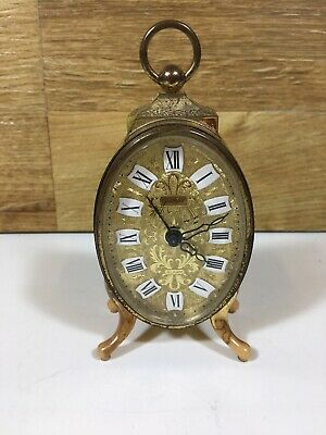 Goldbuhl Vintage Wind Up Mechanical West German Travel Clock