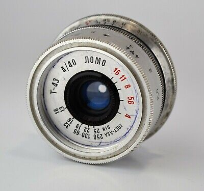HAND MADE M39 mount RUSSIAN USSR SILVER LOMO T-43 f4/40 LENS from SMENA-8m (24)