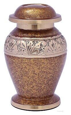 Keepsake Cremation Urn for Ashes Funeral Memorial small urn token urn Brown