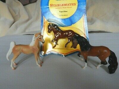 3  Breyer  Stablemates :  Saddlebred , Paso Fino  , and  Andalusian