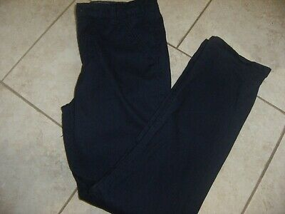 Boys Navy Chino Trousers Age 12-13