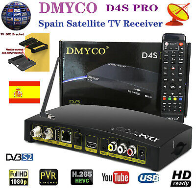 DVB-S2 Satellite TV Receiver Full HD H.265 Digital Receptor+Wifi Antenna+Bracket
