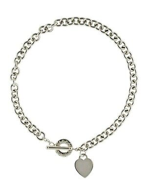 Tiffany & CO   |Heart Tag Toggle Necklace Round Link Chain Ret $600