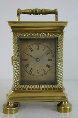 EARLY GEORGIAN CARRIAGE CLOCK by WILLIAM WATTS, LONDON chain fusee verge REPAIR