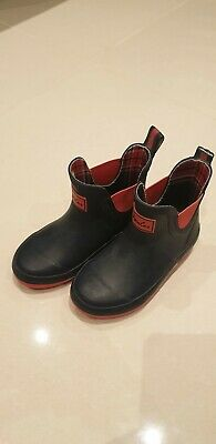 Joules Junior Wellibobs - French Navy and Red used size 10