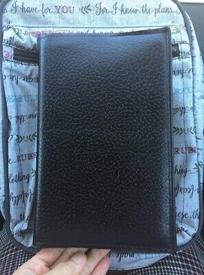 Bible / Book cover , Black Man-made leather,Can be Custom-size,Machine stitched