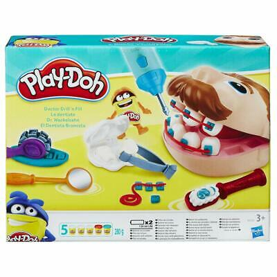 PlayDoh Doctor Drill n Fill Set Dentist Electric Drill Tooth Mould Multi Colour