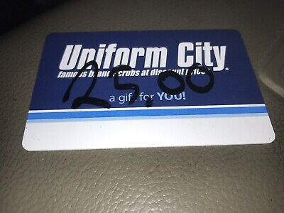 $25.00 uniform city gift card For $14.99 Free Shipping