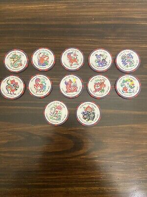 Crystal Park Casino Chips $25 Chinese New Year Full Set Limited Rare