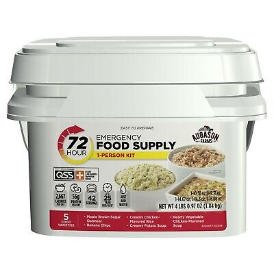 72 Hour Emergency Food Supply Pail Storage 42 Servings Survival Ration Bucket