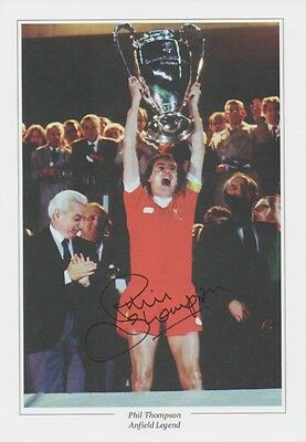 PHIL THOMPSON Signed 12x8 Photo Print LIVERPOOL & ENGLAND Legend COA