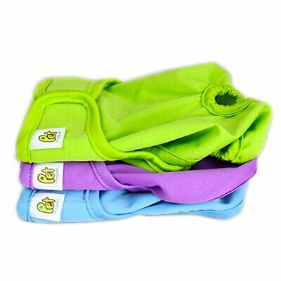Pet Magasin Reusable Washable Dog Diapers (Pack of 3), Highly Solid Small