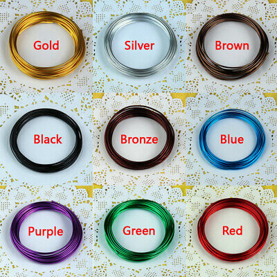 5M Aluminum Wire Jewelry Craft Wire For DIY Bracelet Making Craft 9 Colors