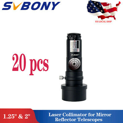"""20x SVBONY 1.25"""" Red Laser Collimator 7 Bright Level for Reflector Telescope US"""
