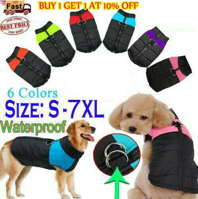Dog Coat Winter Warm Waterproof Padded Jacket Clothes Coat For Small/Large Pet.