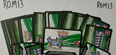 36 GUARDIANS RISING SUN AND MOON POKEMON TCG ONLINE CARDS CODES0(emailed)- ROM13