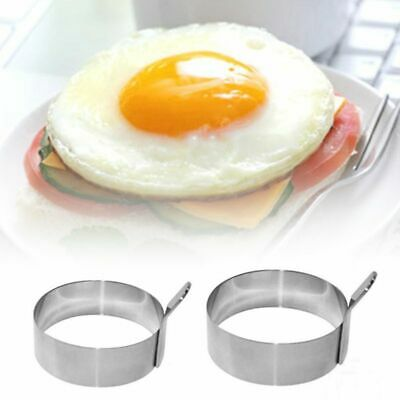Fried Egg Shape Stainless Steel Ring Pancake Mould Egg Mold Cooking Kitchen Tool