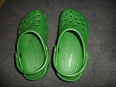 ladies or girls crocs bright green never worn size 35