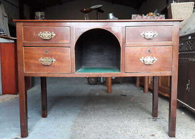Victorian Mahogany Lowboy Sideboard Or Dressing Table With Four Drawers