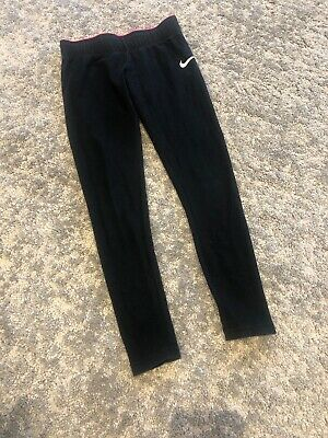 Black Girls NIKE Leggings Size XS Age 6-8 Years