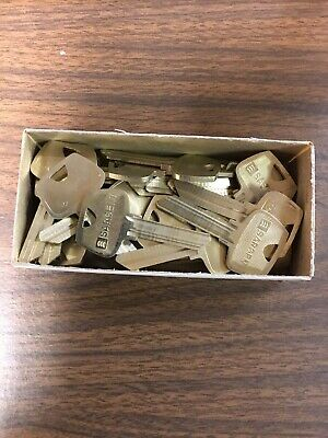 Complete Box Of 25 Sargent CA Original Uncut Key Blanks
