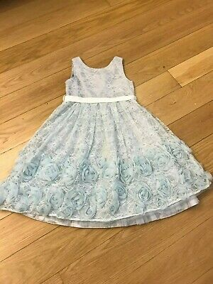 Lovely ice blue Monsoon girls dress age 11 lined