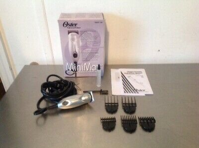 Oster Mini Max MINIMAX Trimmer Clipper Kit 5 snap on Combs