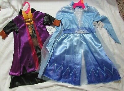 Frozen II Elsa Anna Dress Up Costumes Choose Size Style 3T/4T S 4/6 M 8/10 NWT