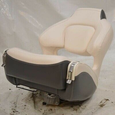 Chaparral Boat Captains Helm Bolster Seat w/ Mount Off White Gray