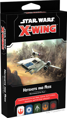 Hotshots and Aces Reinforcements Pack Star Wars: X-Wing 2.0 FFG NIB SHIPS 1/31!
