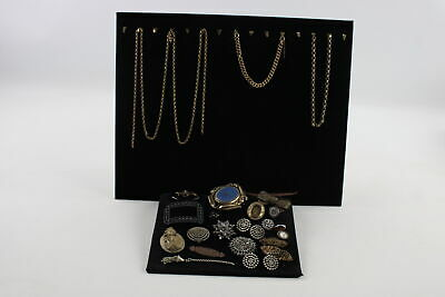 ANTIQUE JEWELLERY FOR RESTORATION Cut Steel, Lava Cameo, Mourning, Jet, Agate