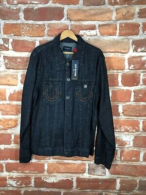 NEW XL MEN/'S J CREW DENIM JEAN JACKET IN RINSE DARK WASH TRUCKER COAT