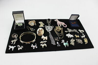 25 x Vintage & Retro CAT & DOG JEWELLERY inc. Panthers, Poodles, Quirky
