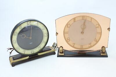 2 x Vintage SMITHS Sectric MANTEL CLOCKS Electric Powered Inc 1950's Bakelite
