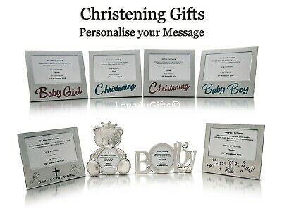Personalised Christening Present Gift Baby Boy Girl Keepsake