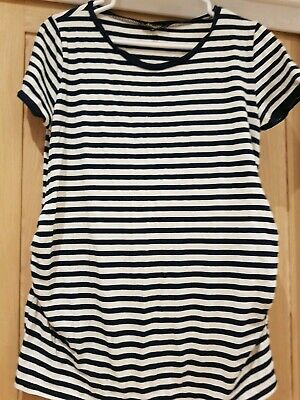 New Look maternity striped top size 14