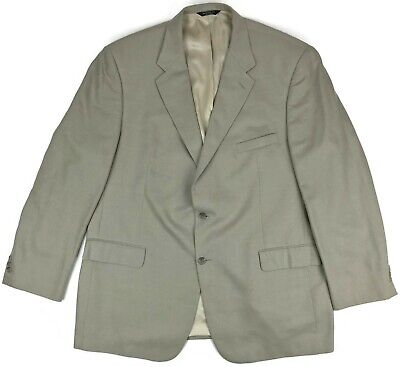 Brooks Brothers Suit Jacket 48L Mens 2 Btn Wool Silk Linen Blazer Sand Vented Sz