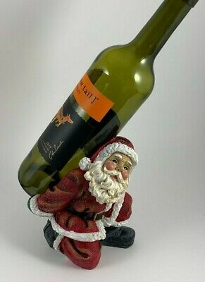 #536A SNOWMAN OR 537 A SANTA HOLIDAY WINE BOTTLE AND GLASS HOLDERS