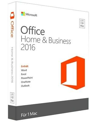 Microsoft Office 2016 Home and Business for Mac Software Key Lizenz E-Mail