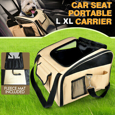 PawZ Pet Car Booster Seat Basket Puppy Cat Dog Carrier Travel Protector Safety